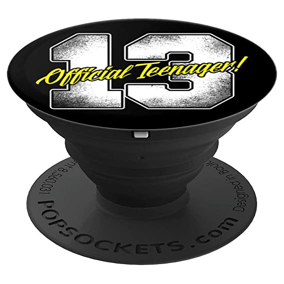 CocomoSoul Mobile Official Teenager 13 Teen Birthday Gift Idea YELLOW PopSockets Stand For Smartphon