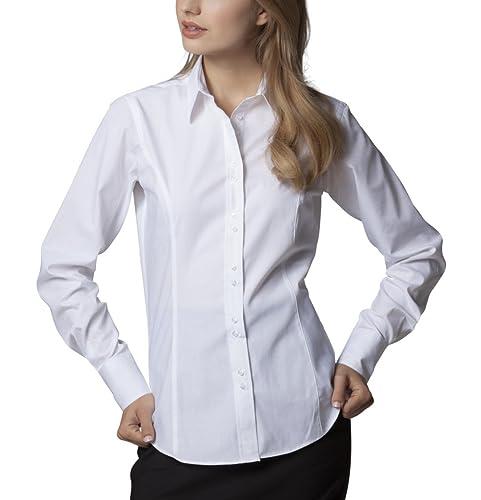 Ciudad de Nueva Mujer Kustom Kit manga larga blusa cuello abotonado Formal Tops