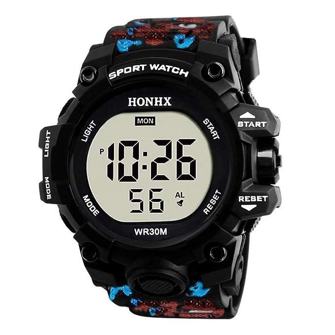 Bestow Hombres de Lujo Analšgico Militar Digital Deporte LED Impermeable Reloj de Pulsera(Rojo): Amazon.es: Ropa y accesorios