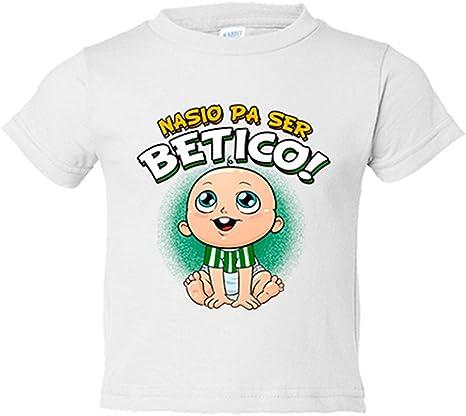 Camiseta niño nacido para ser bético Betis fútbol - Blanco, 3-4 años: Amazon.es: Bebé