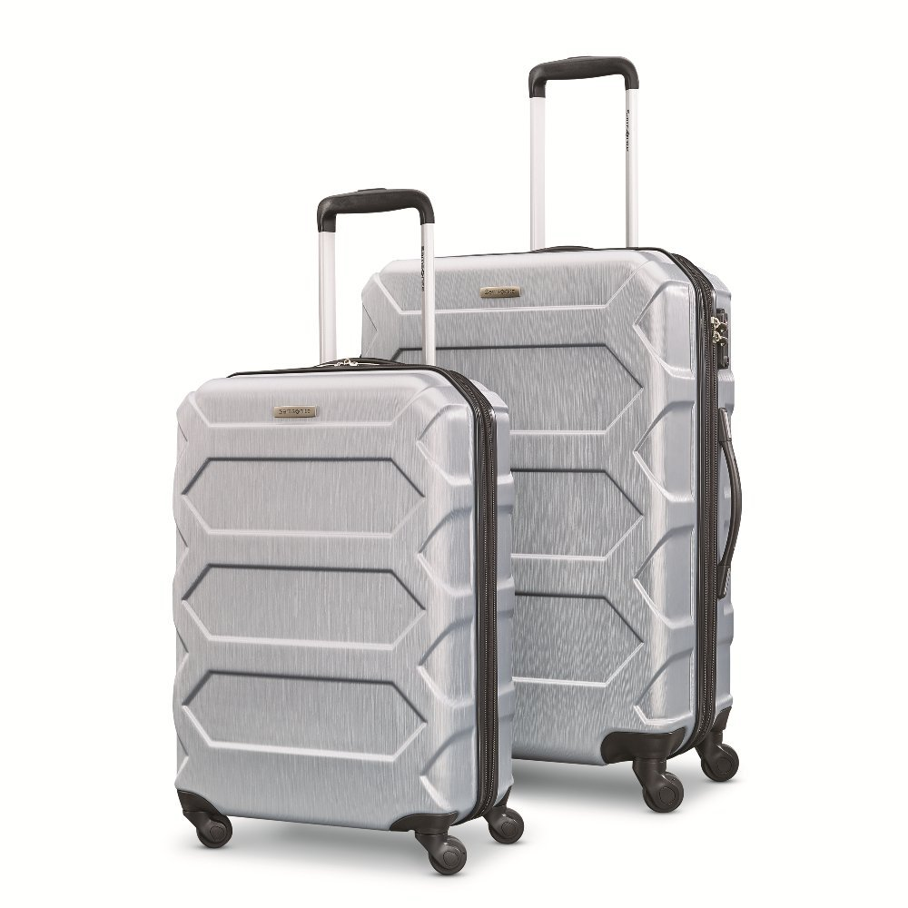 Samsonite Magnitude Lx 2 Piece Nested Hardside Set (20''/24''), Silver, Only at Amazon
