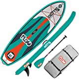 BOTE Flow Aero Kid's Inflatable Stand Up Paddle Board, SUP with Accessories | Pump, Paddle, Fin, & Travel Bag, Native