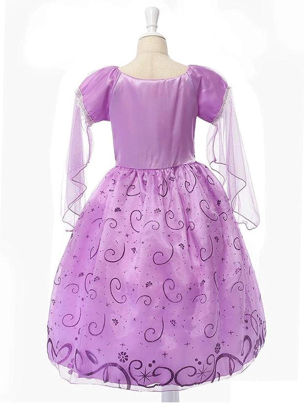 Girls Rapunzel Tangled Dress Birthday Princess