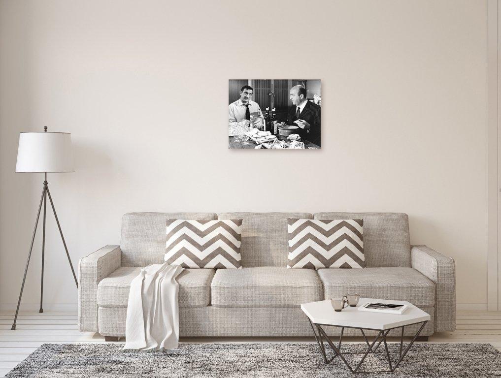 Photo Noir et Blanc du Film Les Tontons Flingueurs avec Lino Ventura 24 x 30 cm Bernard Blier