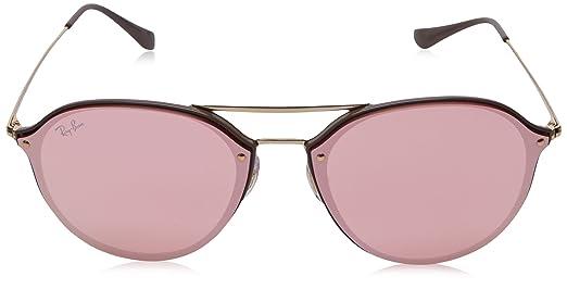 f4b6382876 Amazon.com  Ray-Ban 0rb4292n6327e462blaze Doublebridge Non-Polarized  Iridium Square Sunglasses