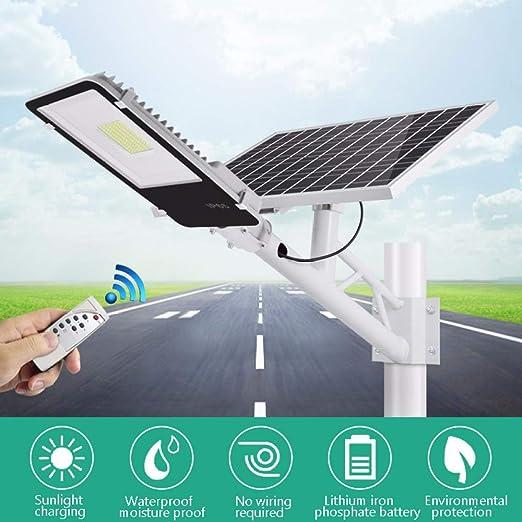 APICK Lámparas Solares LED Farola Solar Exterior Impermeable Control De Luz Inteligente con Soporte Y Control Remoto para Calle,Patio,jardín Etc. (1 Pack),200W: Amazon.es: Jardín