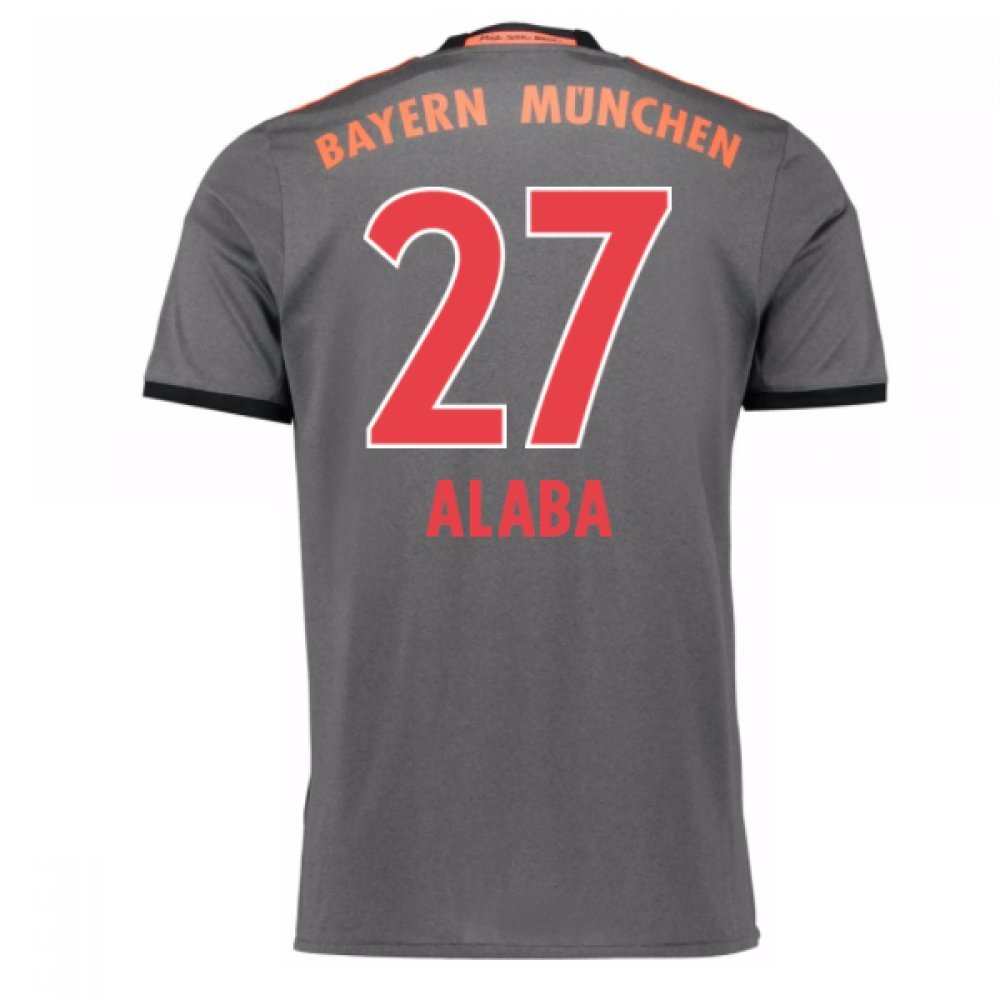 2016-17 Bayern Munich Away Shirt (Alaba 27) B077Z46B3YGrey Large 42-44\