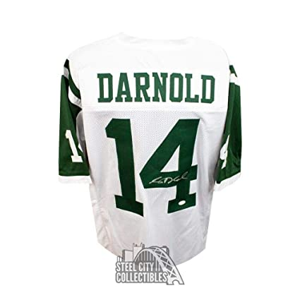 huge discount f54c7 6a4b8 Signed Sam Darnold Jersey - Custom White COA - JSA Certified ...