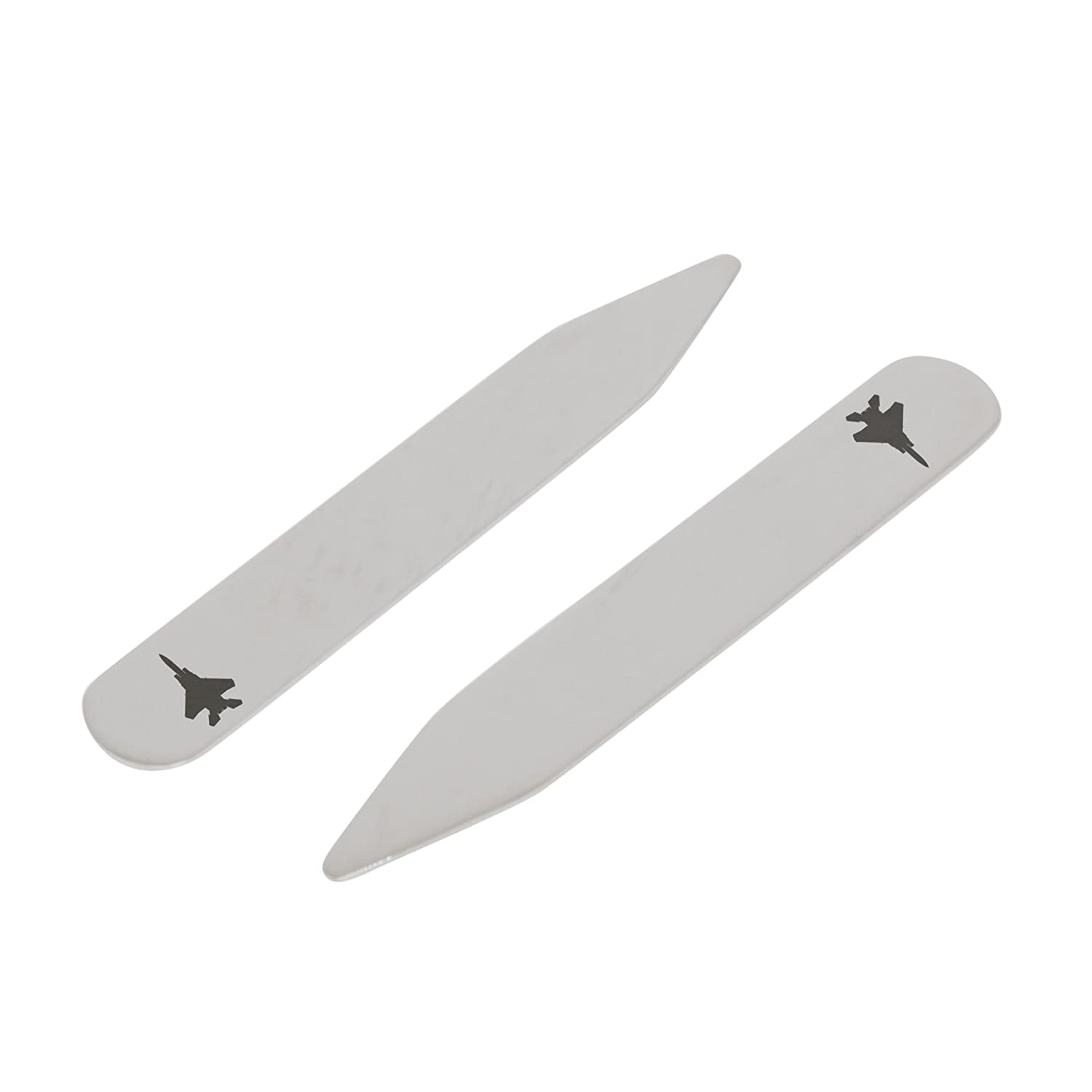 Made In USA MODERN GOODS SHOP Stainless Steel Collar Stays With Laser Engraved Basketball Hoop Design 2.5 Inch Metal Collar Stiffeners