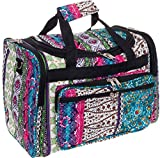 Womens 16'' Duffel Carry-On Travel Bag (Bohemian w/Black Trim)