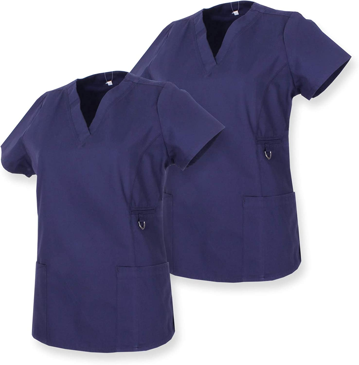 Work Clothes Lady Short Sleeves Uniform Medical Uniforms Scrub Top Ref.707 Set of 2 MISEMIYA
