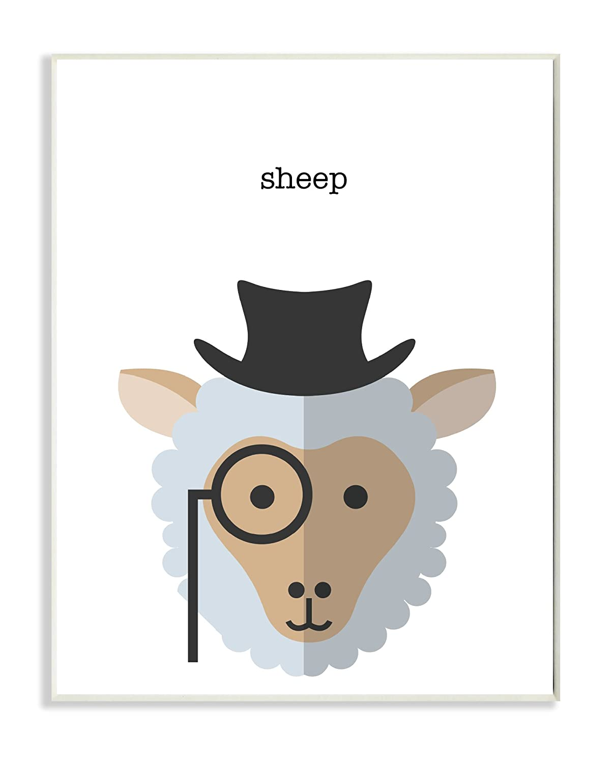 Stupell Home Décor Typographic Hipster Sheep Wall Plaque Art, 10 x 0.5 x 15, Proudly Made in USA Stupell Industries brp-1866_wd_10x15