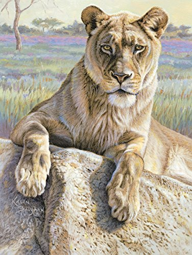 Serengeti Lioness by Kalon Baughan Animals African Wildlife Cats Nature Print Poster (Choose Size)