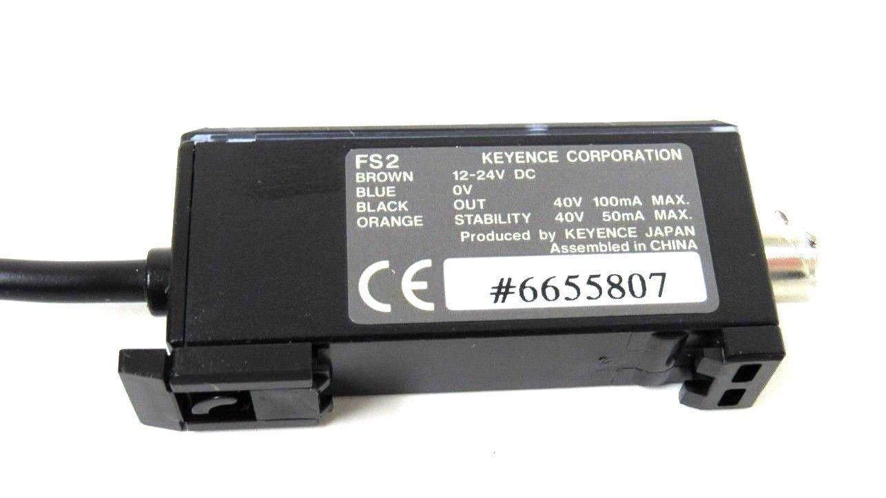 New KEYENCE FS2-60 PHOTOELECTRIC Fiber Sensor FS260