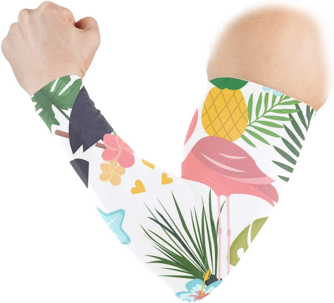 UV Protection Tropical Pelicans Athletic Arm Sleeves for Men Women Youth-Sports Compression