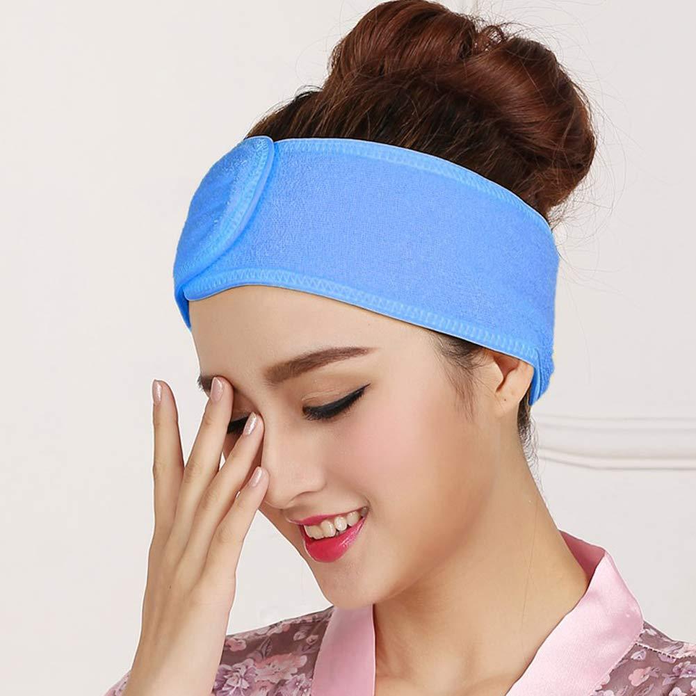 DQICE Haarband Ladies Spa absorbierendes elastischem Klett-Haarband Yoga-Gesichtstuch mit