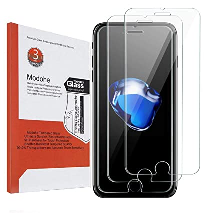 [3-Unidades] iPhone 7 Plus protector de pantalla, Modohe 0.26mm 9H