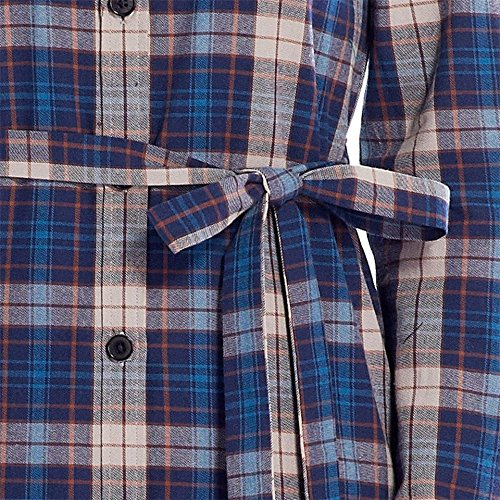 DQQ - Camisas - Button Down - para mujer Blue and Beige Plaid