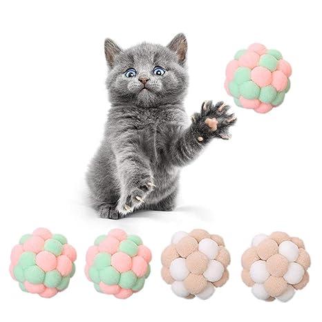 wenjuersty Pet Juguete Interactivo para Gatos Rascador de Pelotas ...