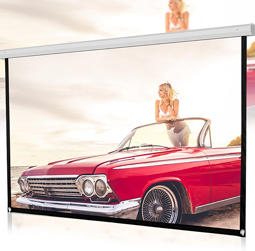 RED-Rainbow Projector Screen, Projection Screen 100 inch 16:9 HD Foldable Anti-Crease Portable Projector Movies Screen for Home Theater Outdoor Indoor