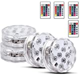 Gluckluz Submersible LED Lights Aquarium Swimming Pool Decorations Waterproof RGB Decor. Light with Remote Control for…