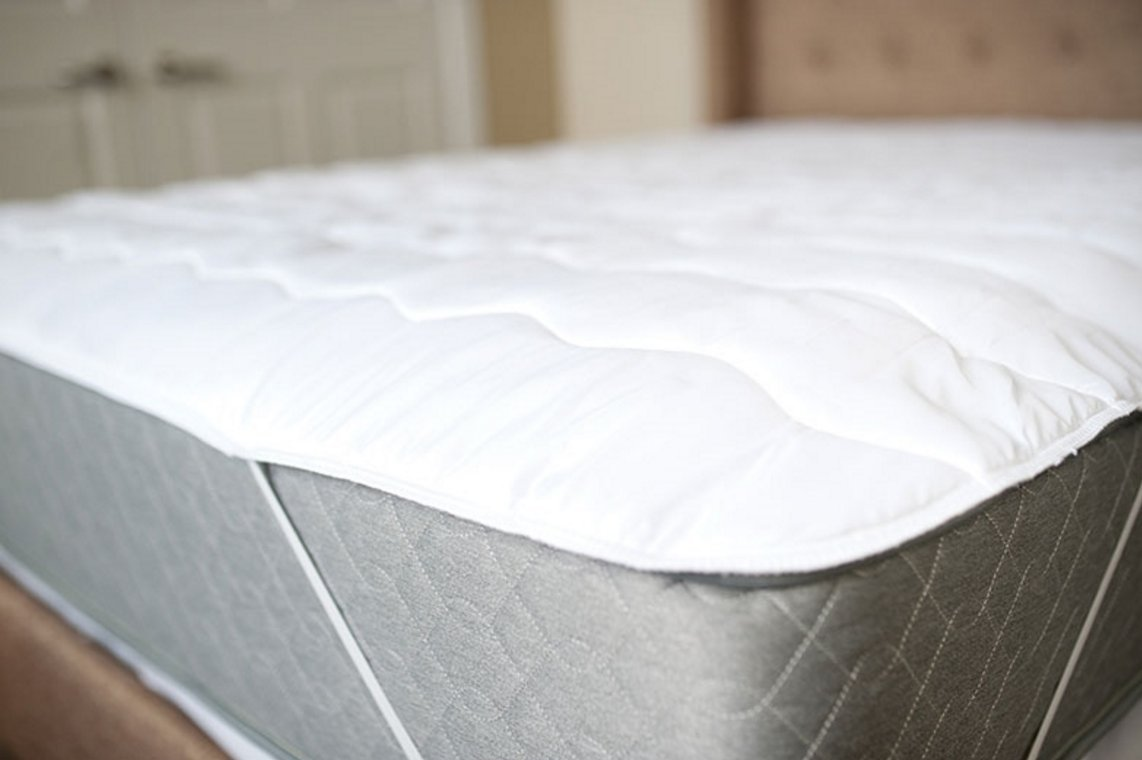 Byourbed USA Made 100% Cotton Top Anchor Band Queen Mattress Pad