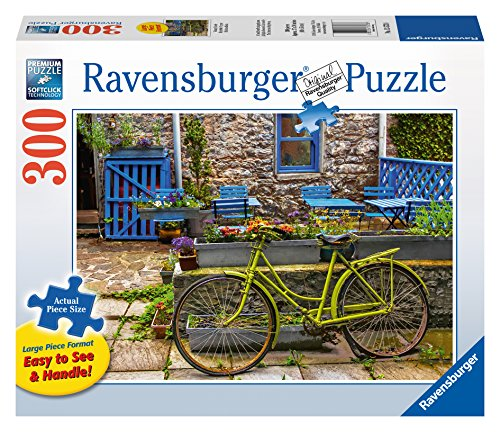 Ravensburger Vintage Bicycle Large Format 300 Piece Jigsaw Puzzle for Adults - Every Piece is Unique, Softclick Technology Means Pieces Fit Together Perfectly