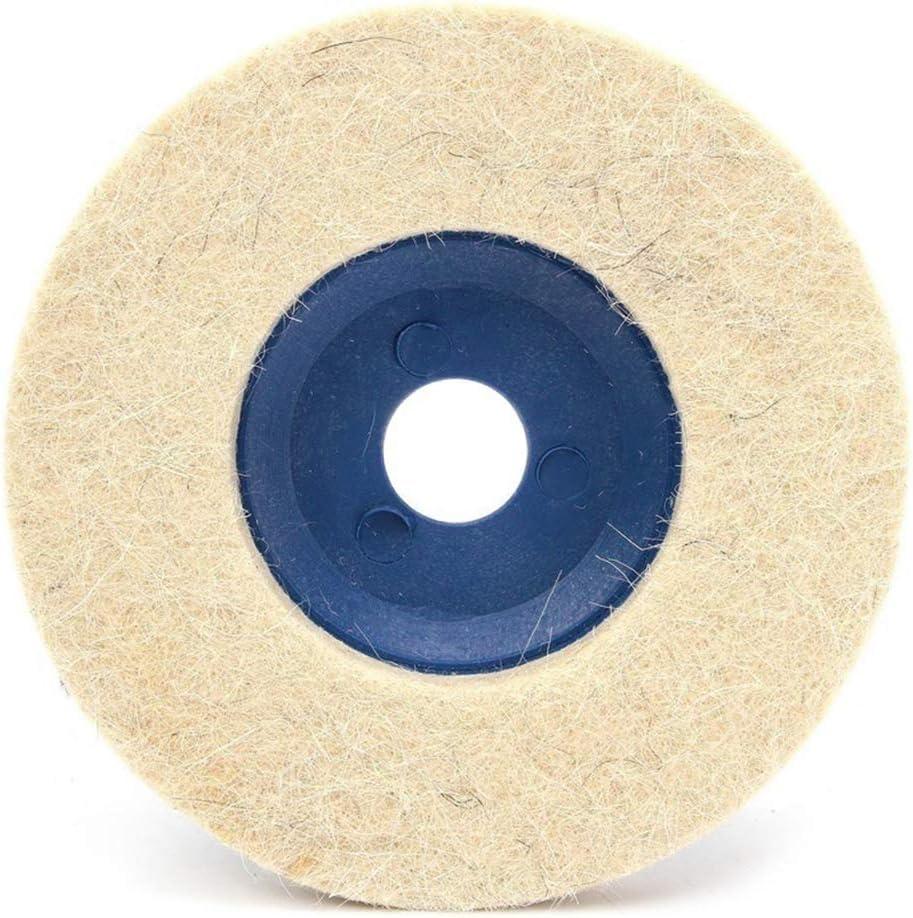 PRENKIN 3pcs Discos para pulir Almohadillas pulidoras 100 Degrees Pulgadas sintió Disco de Pulido Amoladora de ángulo de la Rueda de Fieltro Grinding Disc Pad 4inch 100mm