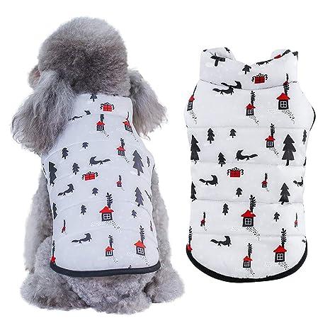 Handfly Chaqueta de Perro Impermeable, Abrigo de Invierno de Cachorro, Abrigo de Chaqueta de Perro, Ropa de Abrigo Abrigada para Perros pequeños, ...