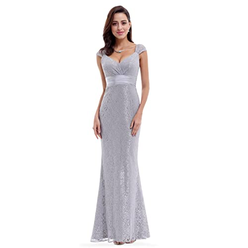 Ever-Pretty Womens Short Sleeve Long Elegant Military Ball Evening Dress