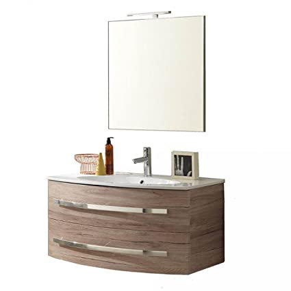 Mueble de baño suspendido Monica 01 roble arena TFT Home Furniture ...