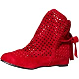 Ankle Boots Women Flat Gladiator Perforated Cutout Low Hidden Wedges Roma Sandals