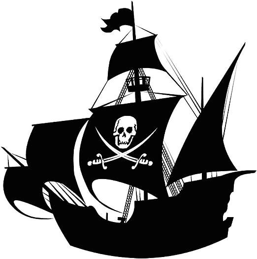 guijiumai Espadas y Calavera Barco Pirata Tatuajes de Pared de ...