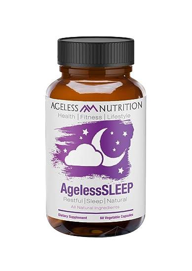 AgelessSLEEP- All-Natural Sleep Aid Supplement - A Restful Night Sleep - Includes Melatonin