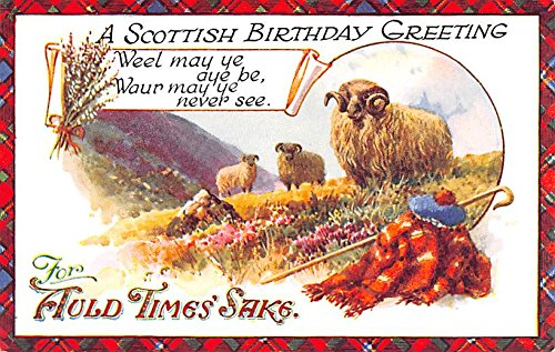 Amazon scottish birthday greeting scotland uk postcard scottish birthday greeting scotland uk postcard m4hsunfo