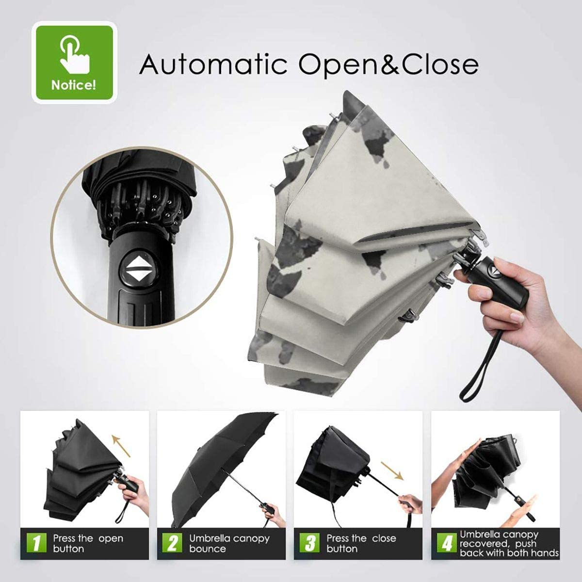 UV Protection And Large Straight Umbrella With C-shaped HandleDear Evan Hansen C-shaped Handle Outdoor Windproof And Umbrella For Car
