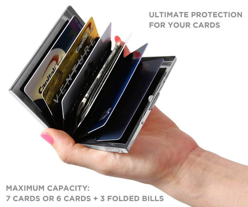 YiCoo RFID Blocage Titulaire De La Carte De Crédit Portefeuille Protecteur,  Bloquer Les Voleurs dIdentité 133eaffa233