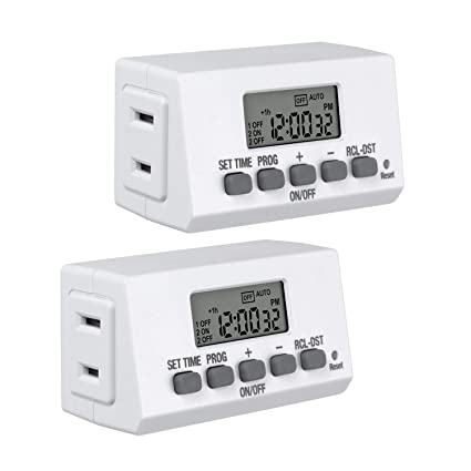 century mini indoor easy set stackable 24 hour digital outlet timercentury mini indoor easy set stackable 24 hour digital outlet timer 2 prong 2