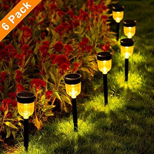 SMY Solar Pathway Lights,6 Pack Solar Outdoor Lights,Garden Lights Outdoor Landscape Lighting for Lawn,Yard,Patio, Pathway,Walkway,Warm White [並行輸入品] B07R7RG2KG