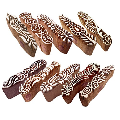 Fabric Wooden Stamps Creative Border Pattern Printing, used for sale  Delivered anywhere in USA