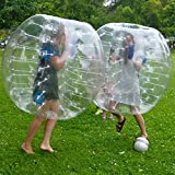 Stagersoccer Adult Size Bubble Ball Human Hamster Ball Dia 5' (1.5m) Transparent Clear 2 per Box