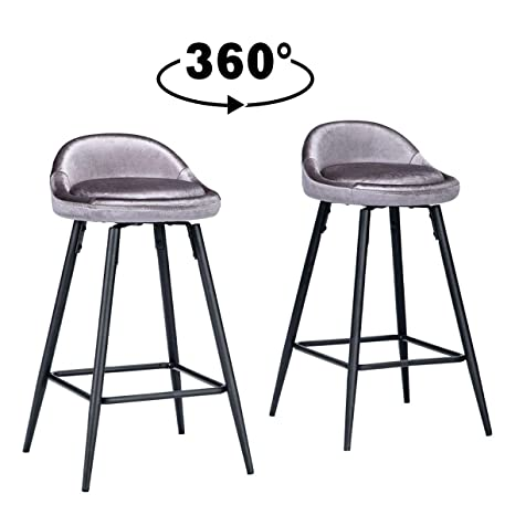 Astonishing Amazon Com Alunaune 26 Swivel Bar Stools Counter Height Cjindustries Chair Design For Home Cjindustriesco