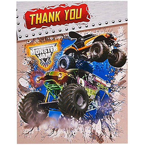 BirthdayExpress Monster Jam Party Supplies - Thank-You Notes