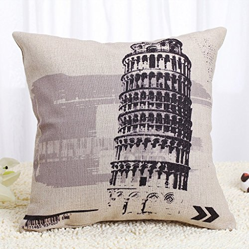 Tan and Gray Floral Clover Pattern Pillow Square Decorative
