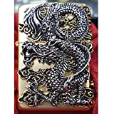 Zippo Genuine Flying Dragon Gold Lighter Original Packing + Guarantee Card + 6 Flints set GIFT