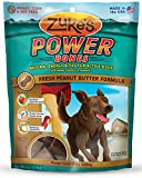 Zuke's PowerBones Dog Treats, Fresh Peanut Butter Formula, 6-Ounce