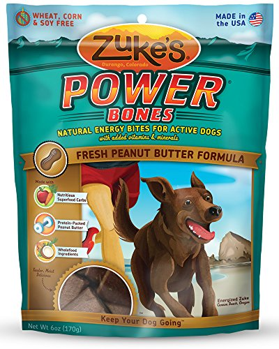 Zuke's Power Bones Dog Treats, Fresh Peanut Butter Formula, - Therapy Antioxidant Butter