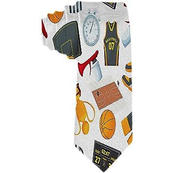 Patrón moderno para hombres en el tema del baloncesto Corbatas ...