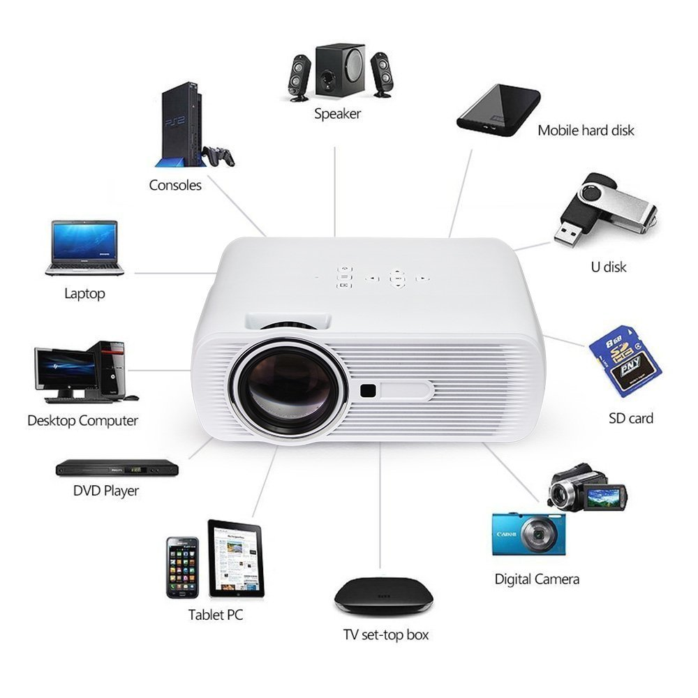 Proyector OGIMA Mini Proyector Mejorado Compatible Video HD 1080P ...