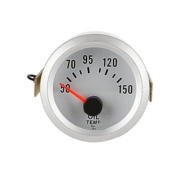 Medidor de Temperatura del Aceite Indicador Centígrados 52MM Azul LED para Coche